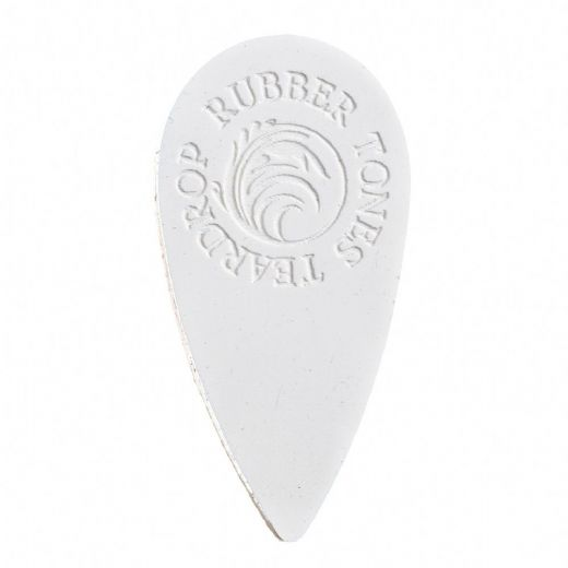 Rubber Tones Teardrop White Silicone 1 Pick